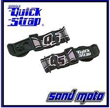 Black Roko Goggle Quick Straps Release Helmet Dirt Bike ATV MX Spy Thor 509 EKS