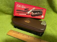 Vintage Old Spice groom and clean travel brush NIB Shulton 1986