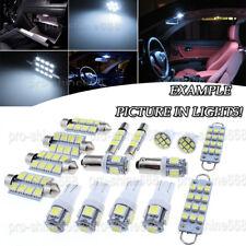8X Bulb Car LED Interior Lights Package kit For 93-1997 Honda Accord White NQ