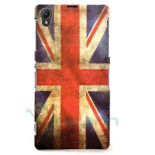 film + case drapeau ANGLAIS VINTAGE pour Sony Xperia Z1 couverture L'ANGLETERRE
