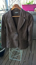JACQUI-E STRIPED BROWN PRE- LOVED JACKET SIZE M