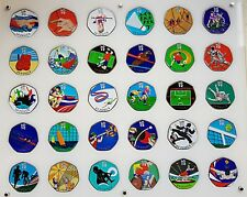 2011 olympic 50p coin stickers prof made. high quality and colour x 30 new