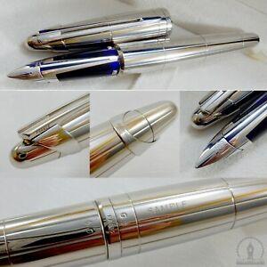 Waterman Edson 2004 Limited Ed. Sterling Silver SAMPLE Fountain Pen 18K B Nib
