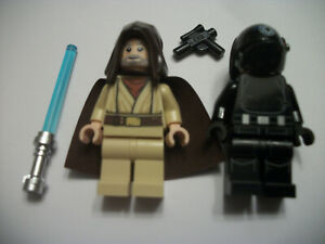 Lego Star Wars minifigs lot / Obi Won / Death Star Trooper / Light saber / 75246