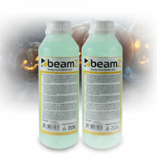 2x Beamz ECO 250ml Green Coloured Fluid White Smoke Fog Machine Liquid 500ml