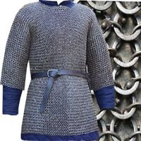 6mm chainmail shirt Half Sleeve Round Riv with Soiled ring Extra Large shirts