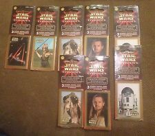 Lot of 8 STAR WARS Episode I Collector Stickers Series 1, 2, 3, 4, & 6-Sealed