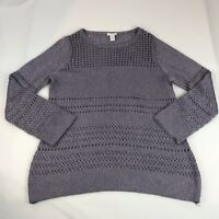 Chico's Women's Size 2 (Large) Pullover Sweater Lavender Metallic Long Sleeve