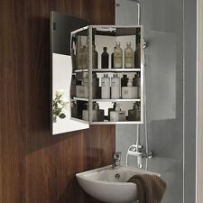 Luxury Wall Corner Mirror Storage Cupboard Stainless Steel Bathroom Cabinet