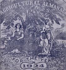 Agriculture Almanac Lancaster PA Farming 1924 Antique Vintage A