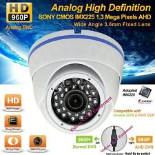 Analog HD 1.3MP SONY CMOS 960P Night Vision Wide Angle CCTV Security Dome Camera