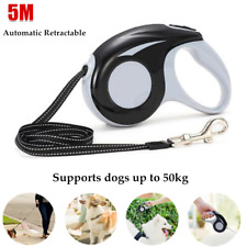 1×5M Automatic Retractable Dog Leash Traction Rope Lead Chain Rope Walking Belt