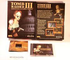 PC GAME TOMB RAIDER III (3) PC CD-ROM WINDOWS 95/98 BY EIDOS 1998