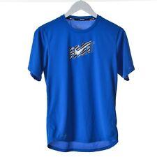 Nike da uomo DRIFIT manica corta t-shirt blu reale TAGLIA S CREW COLLO ORIGINALE