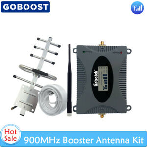 2G 3G 900MHz GSM Repeater 65dB Cellular Signal Booster+Yagi Antenna+10m Cable