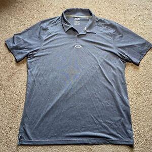 OAKLEY Hydrolix Golf Polo Shirt Blue Textured Regular Fit Men's Size XL