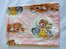 Vintage Sue Hall Barrat Curtain Set of 2 Fabric Panels Snatch The Dog Cat Mouse