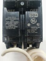 NEW GE 30 AMP GROUND FAULT CIRCUIT BREAKER 120/240 VAC 1 POLE THQB21WY30