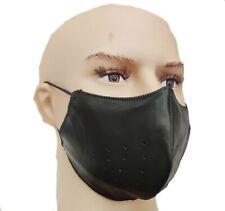 Mundschutz Gesichtsmaske Atemschutz Leder Community Maske Ledermaske schwarz Neu