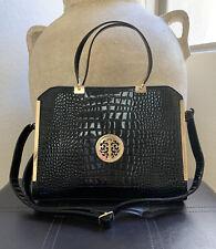 Dasein Womens Chic Handbag Croc Faux Leather Briefcase Satchel Purse Laptop Bag