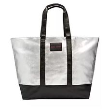 NWT VICTORIA'S SECRET LIMITED EDITION METALLIC SILVER WEEKENDER TOTE BAG