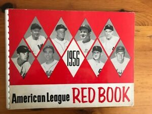 Original 1956 American League Red Book, EX Condition, Free US Shipping