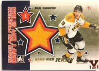 2011-12 ITG Heroes & Prospects Draft Day Stars Gold Jersey Nail Yakupov Vault /1