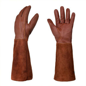 Gardening Gloves Protect Women Men Leather Long Sleeve Rose Pruning Thornproof