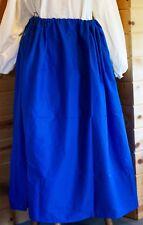 18th Century Royal Blue Drawstring Petticoat