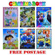NEW BOOK COLORING STICKER BOOK DORA FROZEN TINKERBELL MINION SMURF TOY EASTER