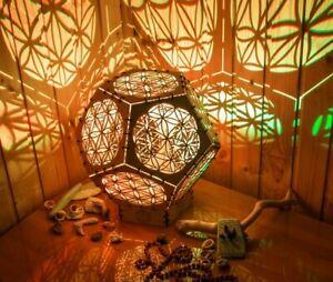 """Interior Smart LED Lamp """"Flower Of Life reincarnation"""" sacreed geometry light"""