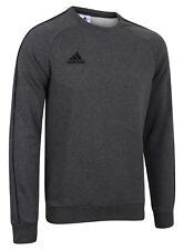adidas Mens Core Fleece Crew Training Sweatshirt Sports Overhead Gym Sweat Top Grey L