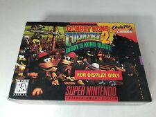 """DONKEY KONG COUNTRY 2 Official SNES """"For Display Only"""" BOX W/INSERT NO GAME"""