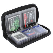 MEMORY CARD WALLET 22-Micro SD SDHC CF SM Protettiva Storage Holder Pouch Case
