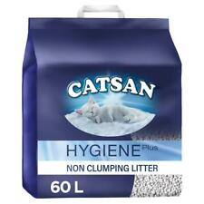 60L Catsan Hygiene Non Clumping Cat Litter 60 Litres Odour Protection (3 x 20L)