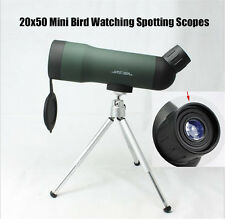 20x50 Spotting Scope Green Film Monocular Telescope W/Mount for Bird Watching