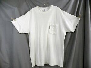 COLUMBIA Men's Size XL Base Crew Neck Ivory  Pocket T-Shirt