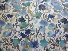John Lewis & Partners Bloom Furnishing Fabric Blue 1.4m