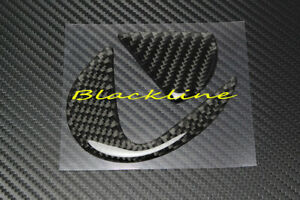 For 15+ Lexus RC F Sport RC 300 350 BLK Carbon Fiber Trunk Emblem Sticker Insert