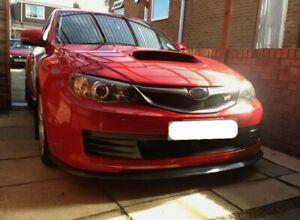 For Subaru Impreza Hatch 08-10 STi Models   Front Splitter Spoiler Lip Black PU