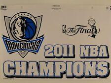 Dallas Mavericks 2011 NBA Champions Reusable Static Cling Jumbo Decal
