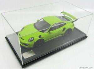 Porsche 911 GT3 RS Type 991 Phase 1 2015 Vert Lumière 1/12 Spark WAX02200001