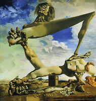 Salvador Dali Soft Construction with Boiled Beans Giclee Canvas Print Paintings