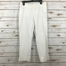 Harold's Women's Size 10 White Eyelet Lined Pants *flaw*