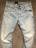 "G-STAR RAW LIGHT AGED BLUE ""ARC 3D SLIM"" FIT JEANS - 28"" x 32"" - NEW & TAGS"