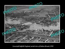 OLD LARGE HISTORIC PHOTO LOWESTOFT SUFFOLK ENGLAND, VIEW OF OULTON BROAD c1950 2