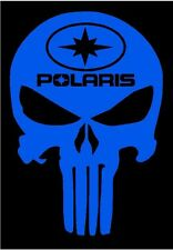 Polaris PUNISHER decal BLU Switchback RZR Sportsman Ace Rush RMK Snowmobile ATV