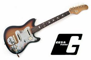 Vintage Guyatone LG-65T 1960s Sunburst Japanese Solid Body Electric Guitar MIJ