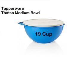 Tupperware THATSA MEDIUM BOWL 19 Cup BLUE Container w/ White Seal~Prep & Storage