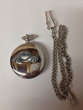 Morris Minor Series 2  Split Screen Face Lift ref164 silver pocket watch